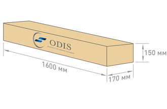 Габариты упаковки светильника OS-PROM-P-85