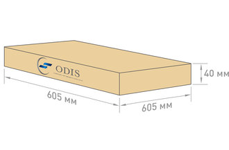 Габариты упаковки светильника OS-ARMSTRONG GR-40