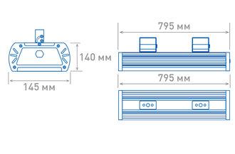 Размеры светильника OS-PROM-P-200(12d-L)