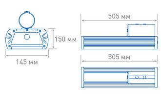 Размеры светильника OS-STREET-120(12d-L)