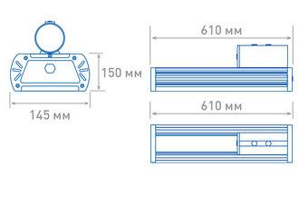 Размеры светильника OS-STREET-160 (12d-L)