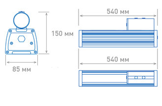 Размеры светильника OS-STREET-60