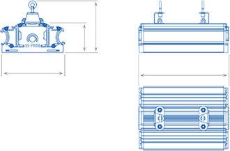 Размеры светильника OS-ARMSTRONG-40