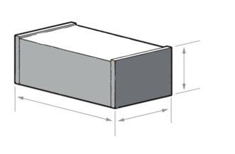Габариты упаковки светильника OS-ARMSTRONG-40